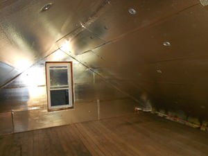 A Chatham attic with SuperAttic installed.