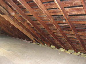 A New Jersey attic before installation of SuperAttic