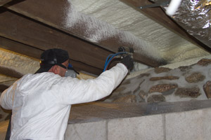 Spray Foam in the crawl space in Summit